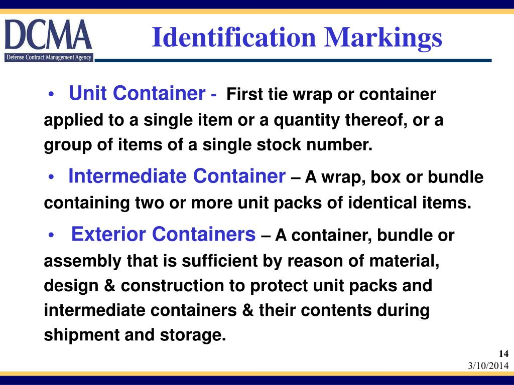 Identification Markings