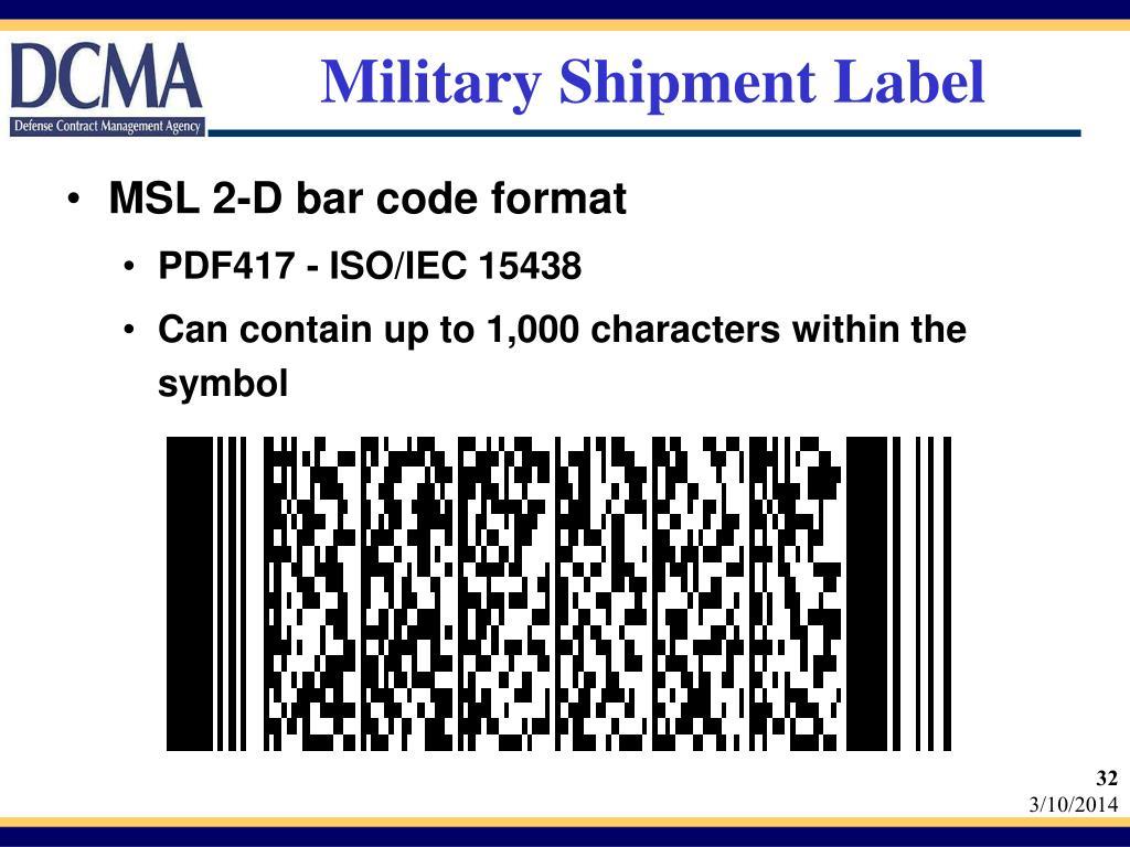 Military Shipment Label