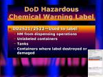 dod hazardous chemical warning label