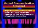 hazard communication standard15