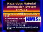 hazardous material information system hmis