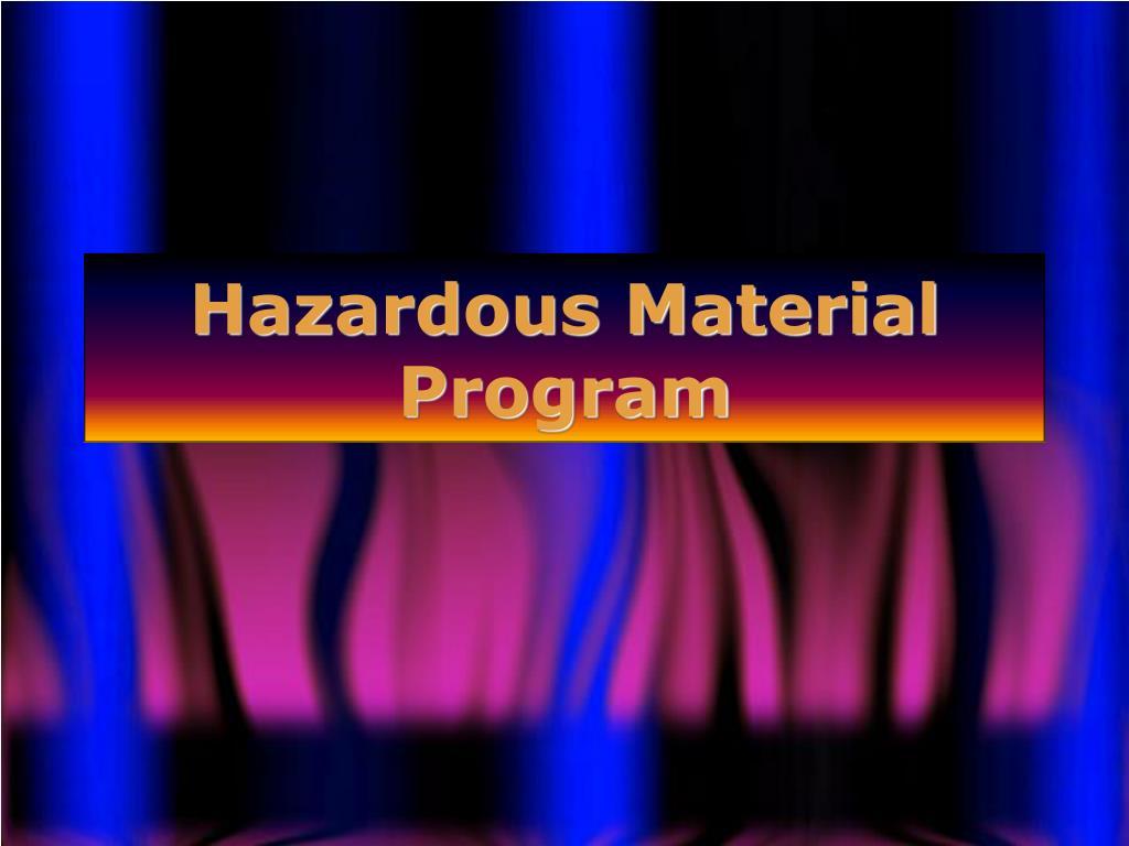 hazardous material program l.