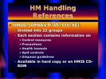 hm handling references