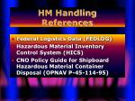 hm handling references37