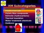 hm subcategories6