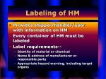 labeling of hm