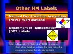 other hm labels