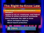 the right to know law