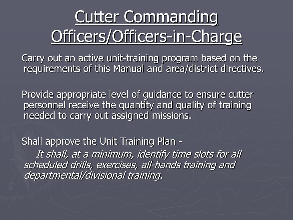 Cutter Commanding Officers/Officers-in-Charge