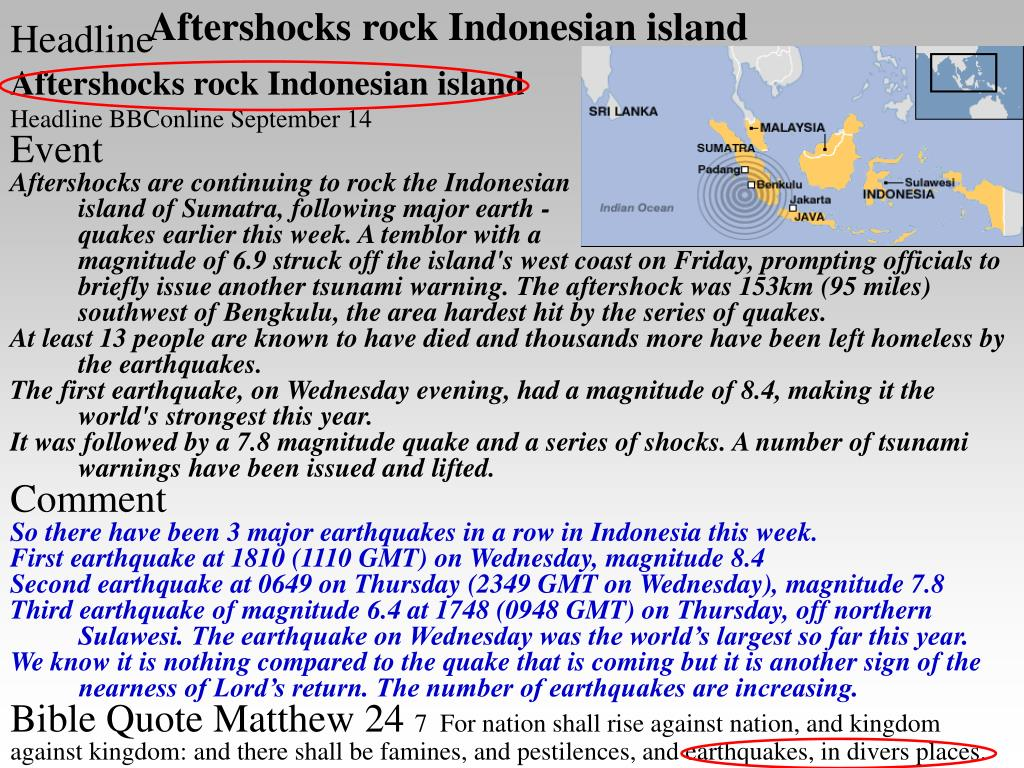 Aftershocks rock Indonesian island