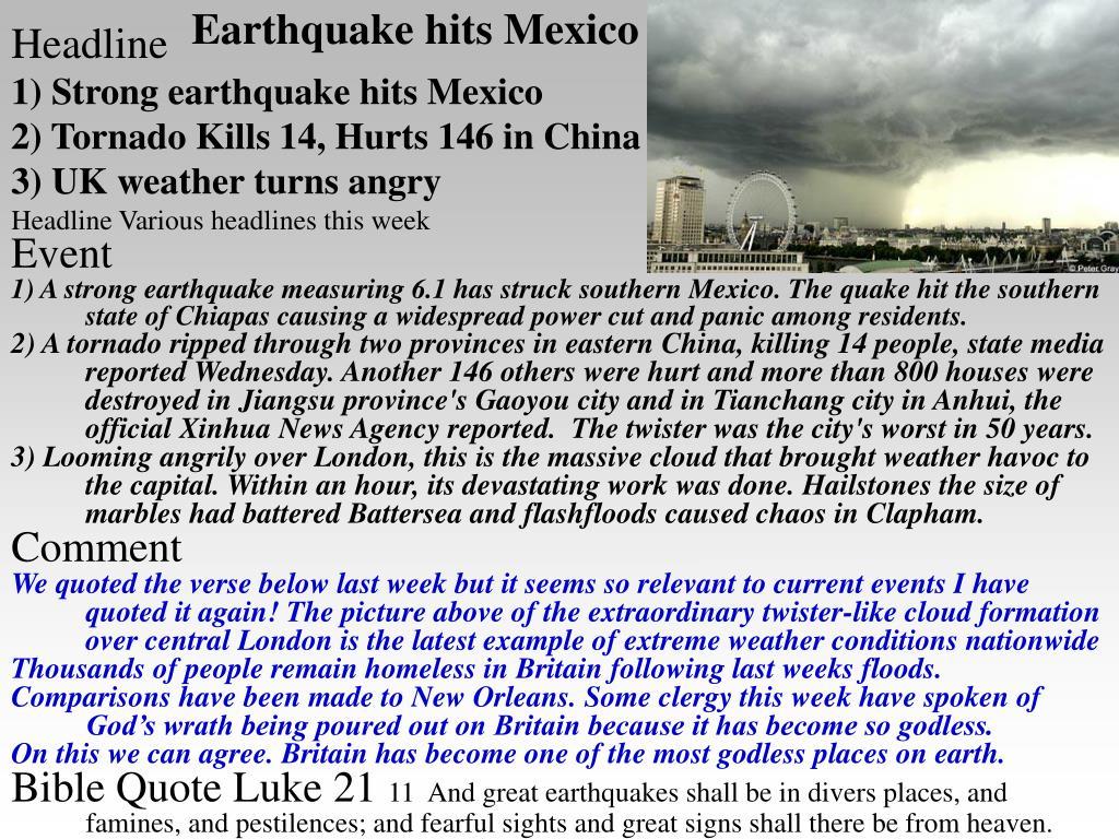 Earthquake hits Mexico