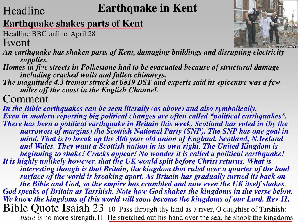 Earthquake in Kent