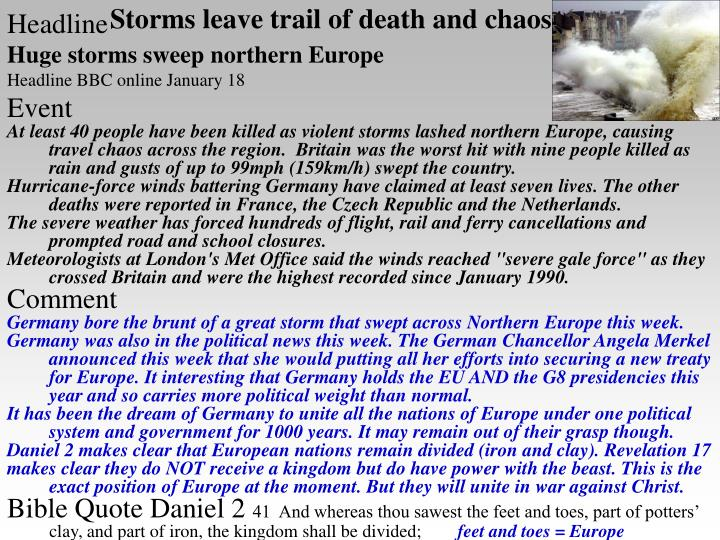 Storms leave trail of death and chaos