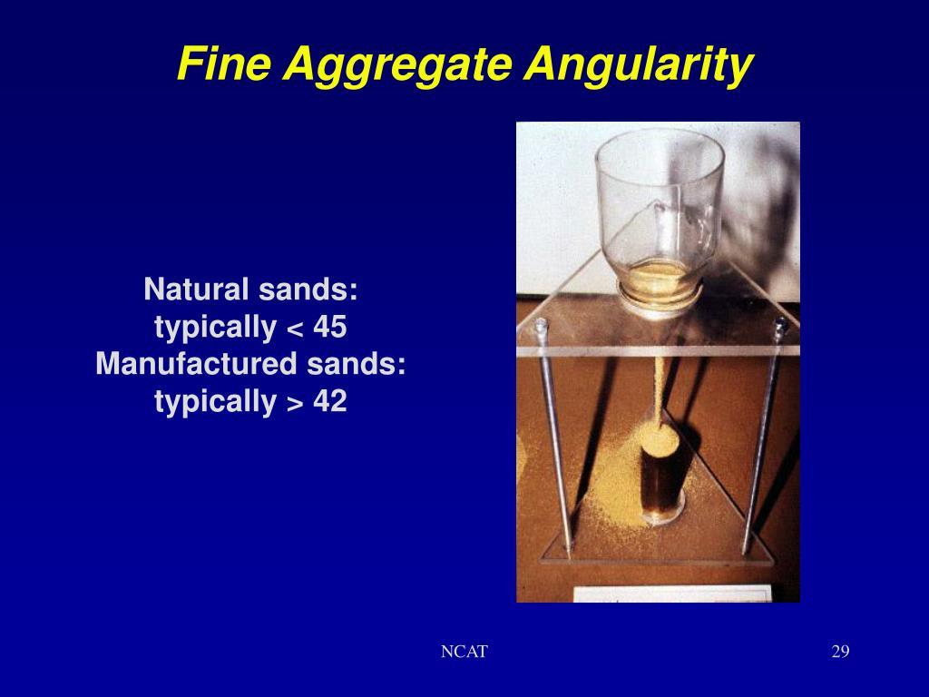 Fine Aggregate Angularity