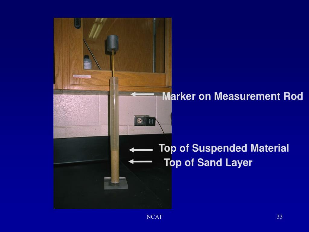 Marker on Measurement Rod