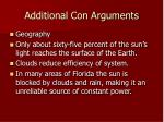additional con arguments