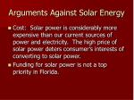 arguments against solar energy