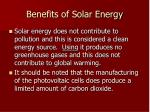 benefits of solar energy42
