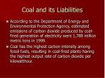 coal and its liabilities