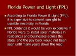 florida power and light fpl