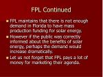 fpl continued