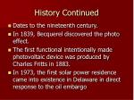 history continued