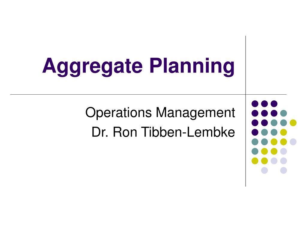 aggregate planning l.