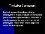 the labor component42