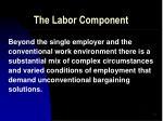 the labor component43