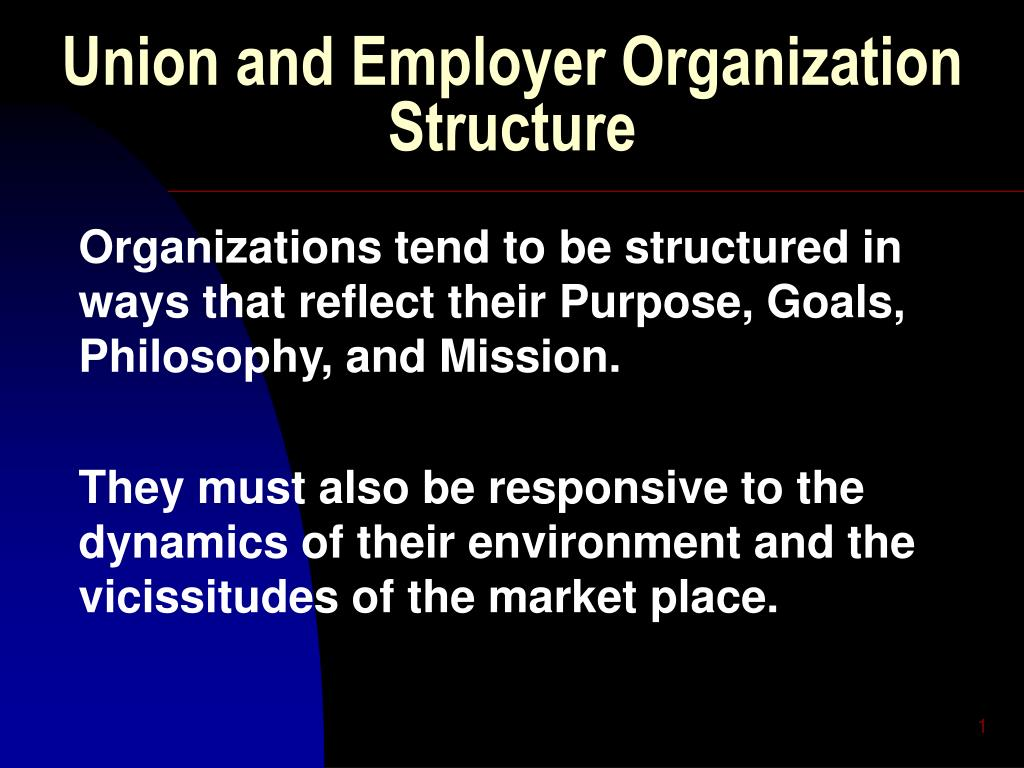 union and employer organization structure l.