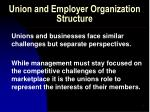 union and employer organization structure2