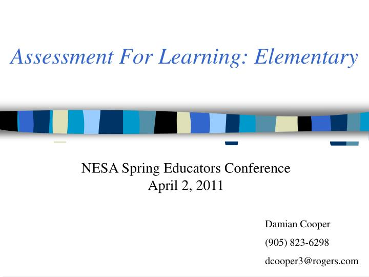 Assessment for learning elementary