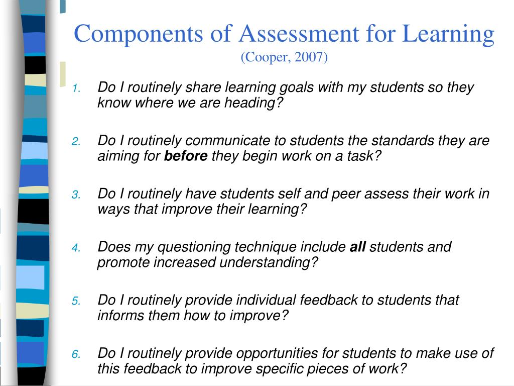 Components of Assessment for Learning