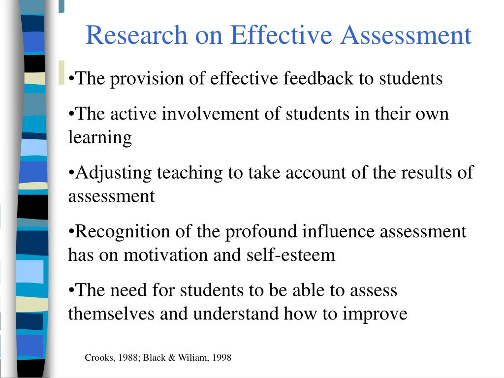 Research on Effective Assessment