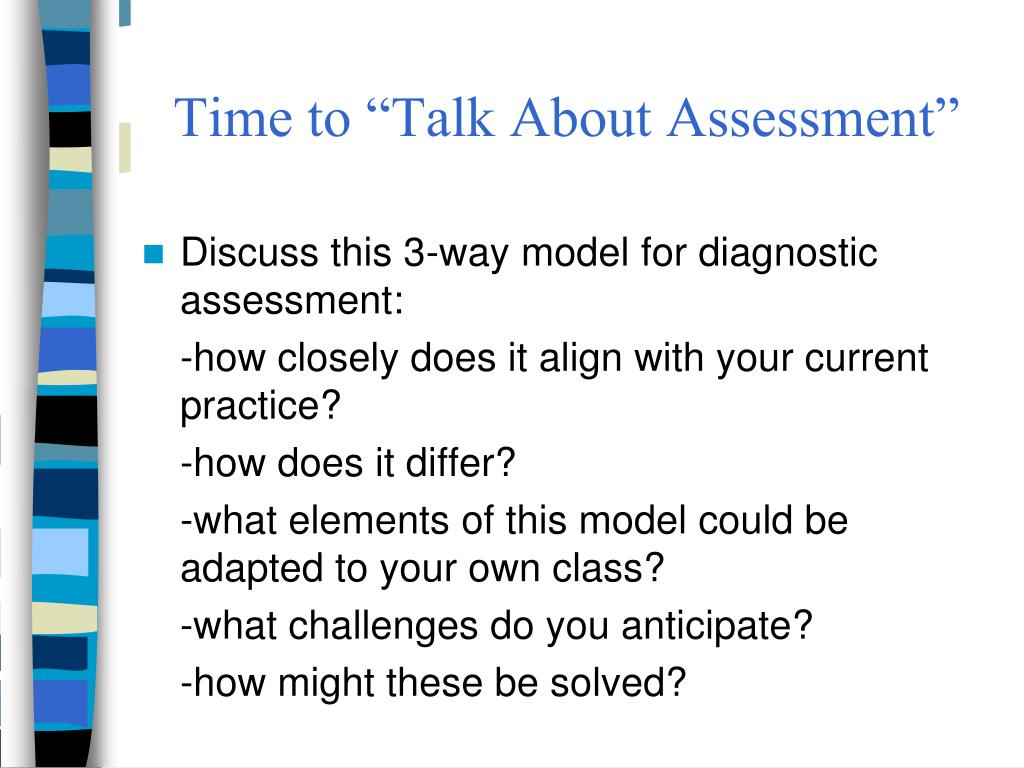 "Time to ""Talk About Assessment"""