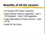 benefits of 64 bit version