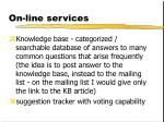 on line services