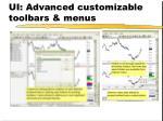 ui advanced customizable toolbars menus