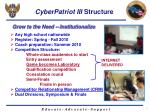 cyberpatriot iii structure