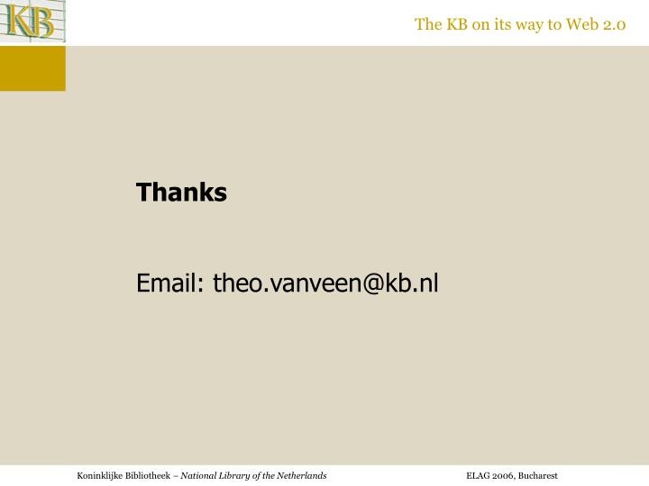 The KB on its way to Web 2.0