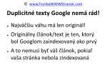 duplicitn texty google nem r d