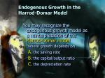 endogenous growth in the harrod domar model
