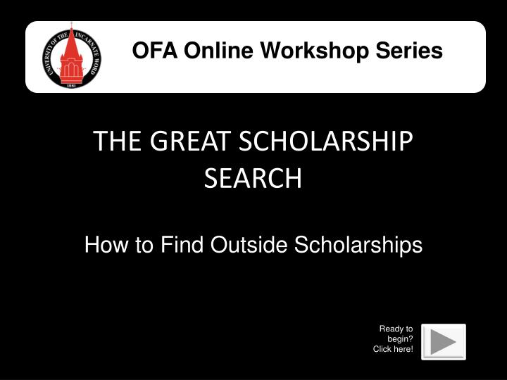 the great scholarship search n.