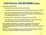 australia s job network 3 2003