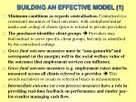 building an effective model 1