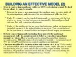 building an effective model 2