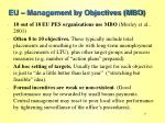 eu management by objectives mbo