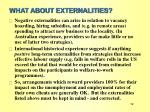 what about externalities