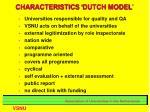 characteristics dutch model