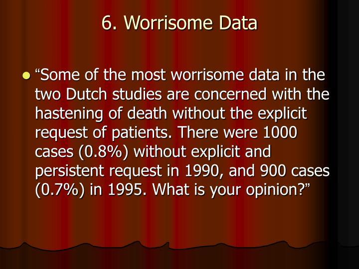 6. Worrisome Data